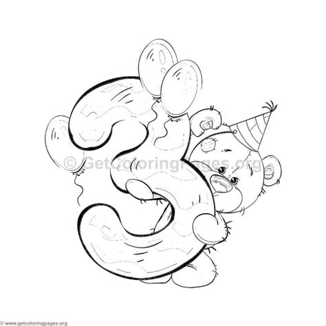 teddy bear number  coloring pages alphabetsnumbers