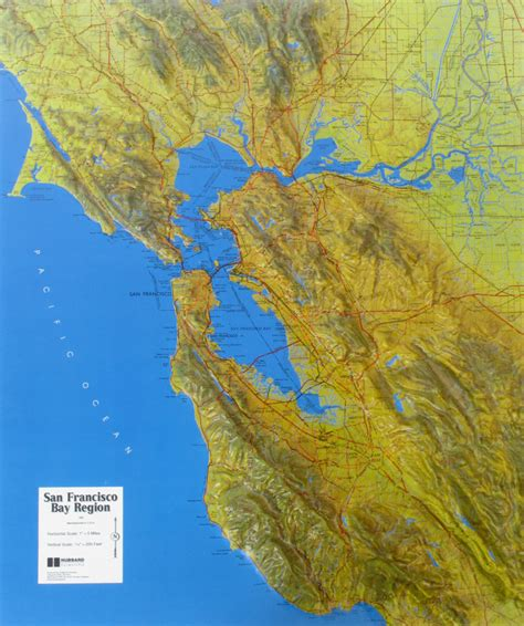 san francisco relief map raised relief map of san francisco bay