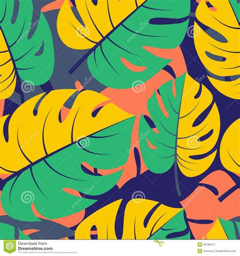 jungle pattern vector beautiful seamless tropical jungle floral graphic seamless