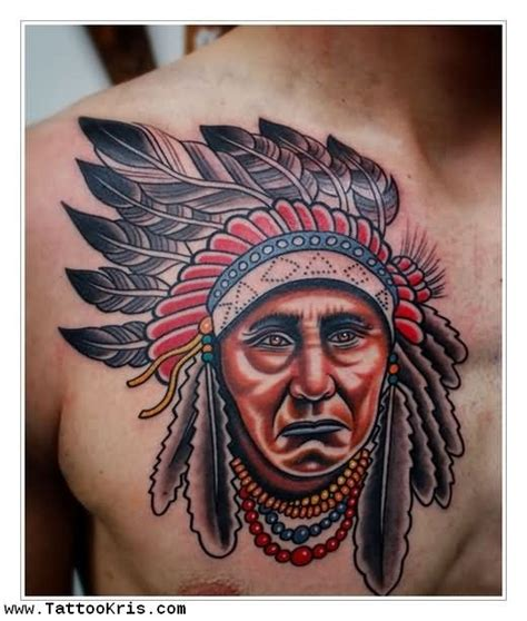 chest tattoo native american american tattoo images designs