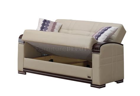 fulton bed fulton sofa bed in beige bonded leather by empire w options