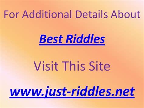 best riddle best riddles