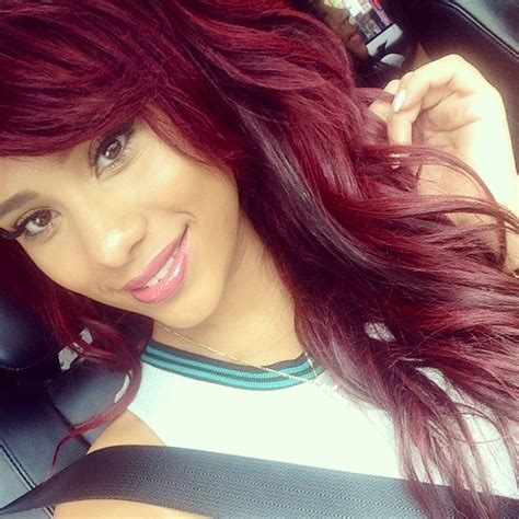 Cyn Santana Burgundy Hair | long bob ombre hairstyle pictures short hairstyle 2013