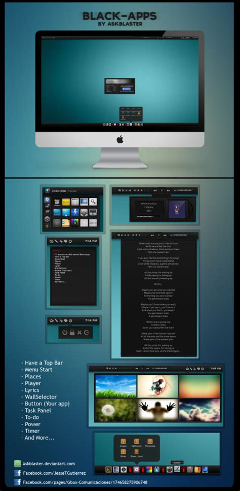 themes apps for pc 63 new best rainmeter themes skins for windows pc 2014