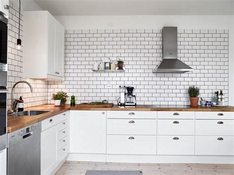 Cream Kitchen Tile Ideas by A White Tiles Black Grout Kind Of Kitchen Coco Lapine