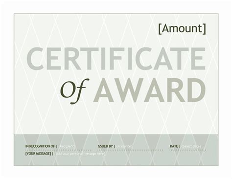 award certificates templates office 2007 gift certificate template award for microsoft