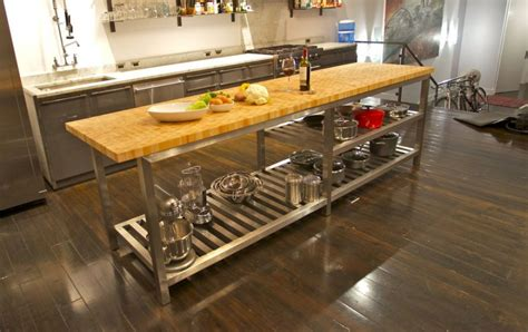chrome kitchen island astounding kitchen island stainless steel butcher block