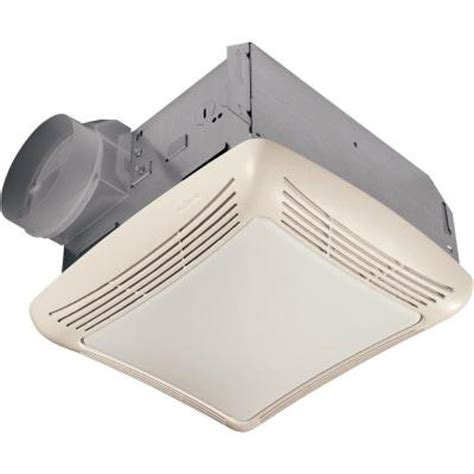 bathroom exhaust fan home depot nutone 50 cfm ceiling exhaust bath fan with light 763rln