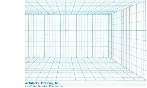 5 best images of printable perspective grids one point