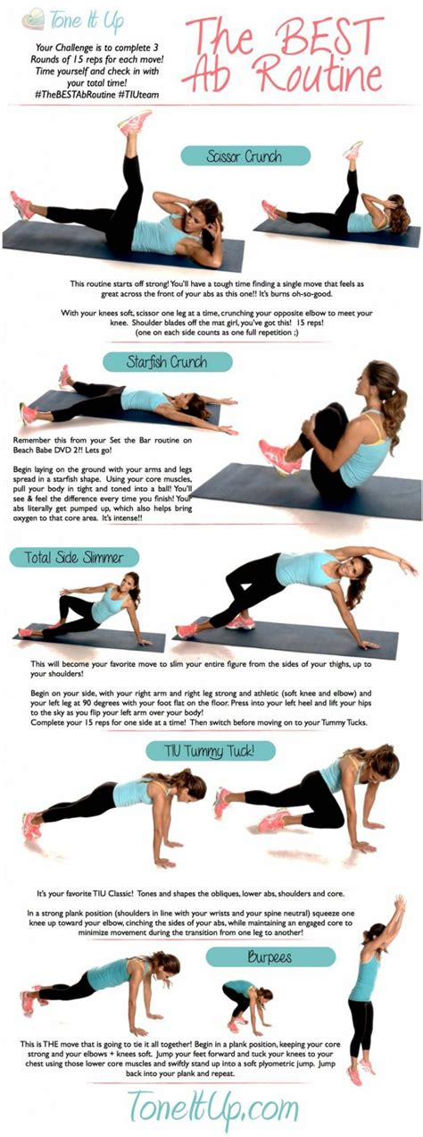 the best ab workout routine toneitup