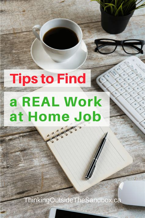 6 tips to find a real work at home thinking outside