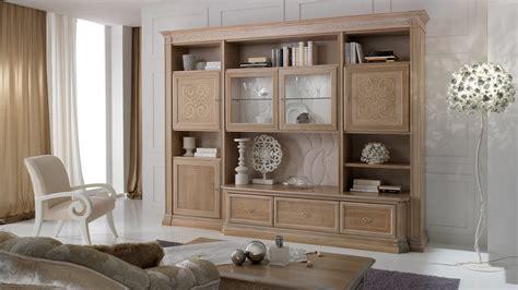 abitare arreda parete attrezzata classica noce natura stilema oliva