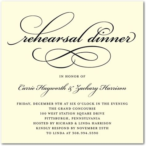 invitations for rehearsal dinner template best template