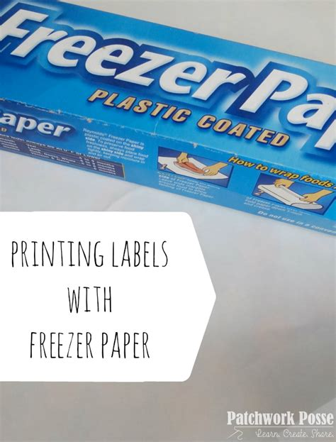 how to make printable fabric with freezer paper freezer paper