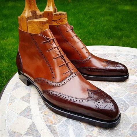 cognac color shoes ascot shoes the 3 tone cognac ankle budapest boots by