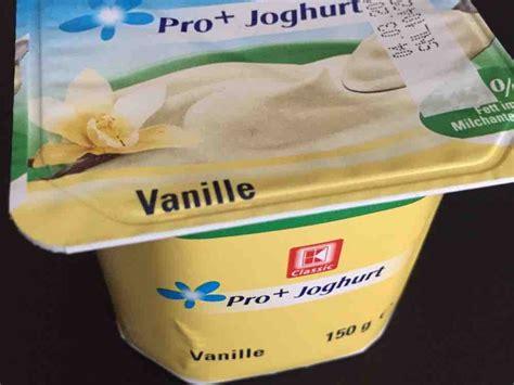 Pro Yoghurt kaufland pro joghurt vanille kalorien joghurt fddb