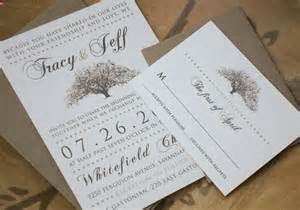 paper for invitations rustic magnolia tree wedding invitations with kraft paper envelopes flyoung studio