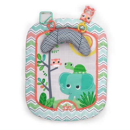 bright starts tummy time mat bright starts tummy time prop play activity mat giggle