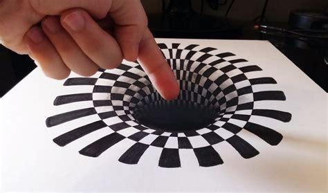imagenes en 3d ilusion optica c 243 mo dibujar un incre 205 ble agujero hoyo 3d how to draw a