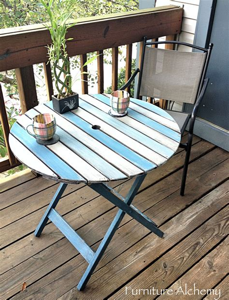 diy chalk paint outdoor furniture hometalk patio table chalk paint makeover