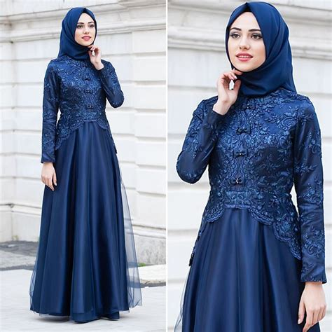 07272 Gamis Lirin Navy Baju Muslim Maxi Dress best 25 kebaya muslim ideas on dress muslim dress and model kebaya muslim