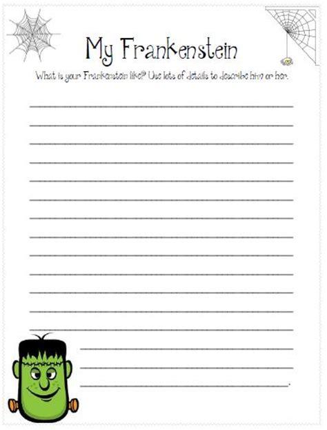 printable handwriting paper 3rd grade third grade love frankenstein writing freebies