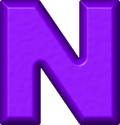 D I N A presentation alphabets purple refrigerator magnet n