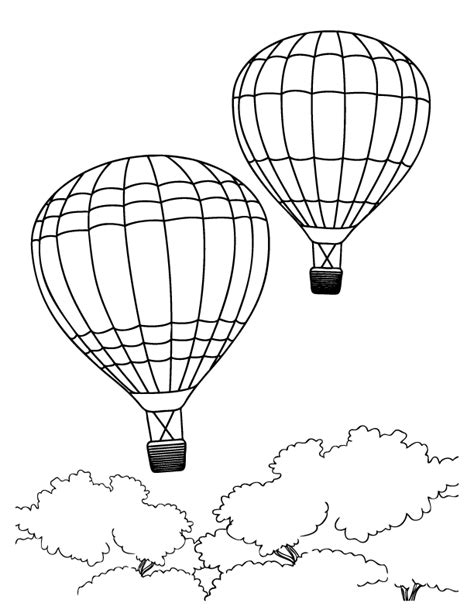 printable coloring pages balloons free air balloon coloring pages