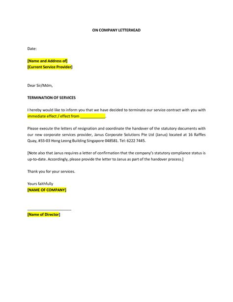 termination letter for services best photos of professional termination letter sle