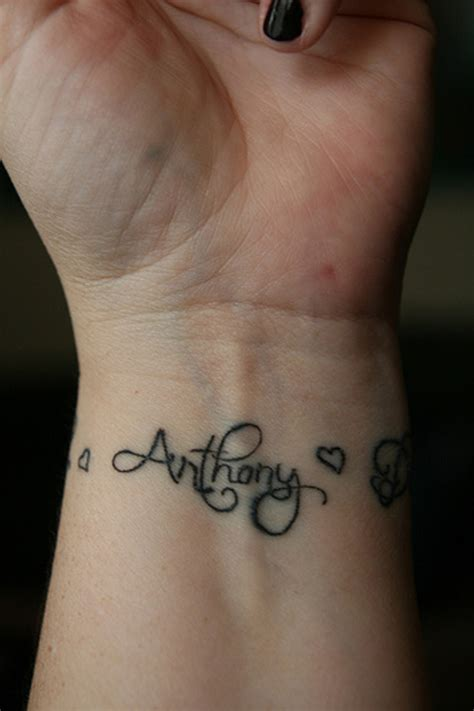 tattoo designs of names in a heart cool wrist tattoos with names