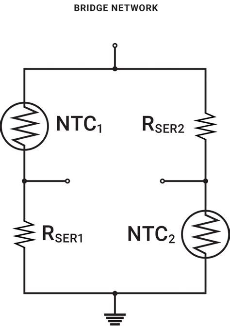 wheatstone bridge ntc thermistor temperature sensor for and compensation circuits ametherm