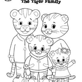 coloring page of daniel tiger daniel tiger neighborhood coloring pages murderthestout