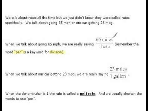 diagram unit rate definition definition of unit rate 5 2
