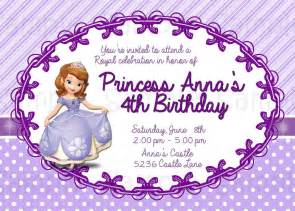 8 best images of free printable princess sofia invitations