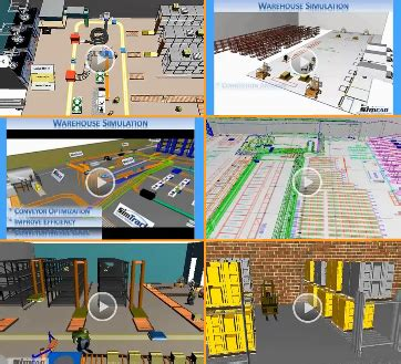 warehouse layout models lean supply chain logistics warehouse with simtrack 3d