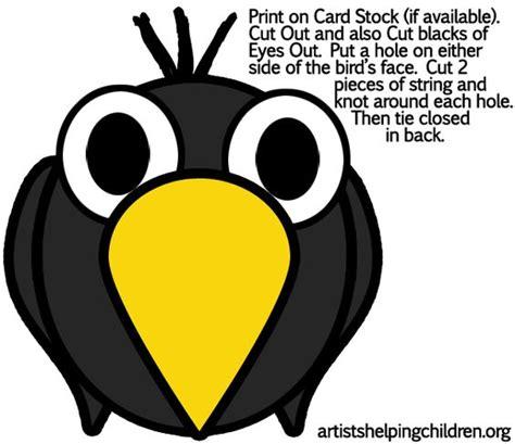printable raven mask free printable crow masks templates crow crafts for kids