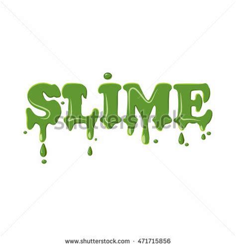 Slime Word Isolated On White Background Stock Vector 471715856 Shutterstock Slime Logo Template