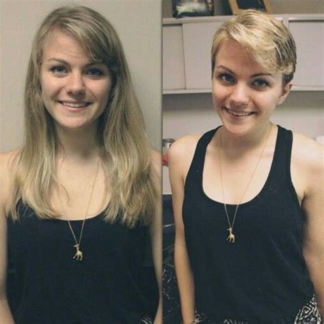 before and afters to long to short pixie cuts of 2015 36 best images about before and after on pinterest oval