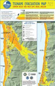 oregon coast tsunami map oregon tsunami information clearinghouse oregon dept of