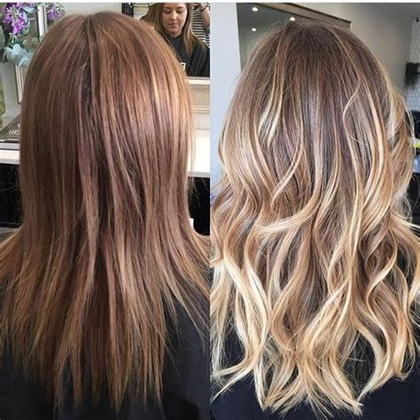 balayage highlights before and after pictures 25 best ideas about balayage before and after on