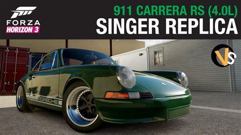 Singer Porsche Replica singer porsche 911 replica rs 4 0 liter spec