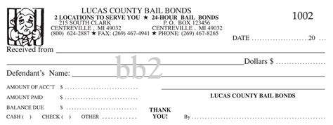 Superior Receipt Book Company Printing Services Bail Bonds Bail Bond Receipt Template