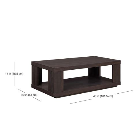 coffee table espresso finish better homes and garden coffee table espresso