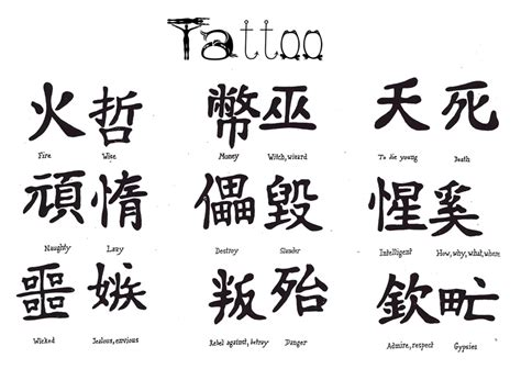 chinese word tattoos symbol tattoos and meanings tattoos book