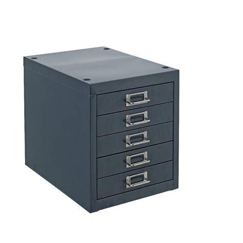 Desktop Filing Cabinet New Spencer Desktop 5 Drawer Office Filing Storage Cabinet A4 Navy Ebay