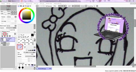 tutorial lukis doodle guna paint tool sai dunia photoscape september 2012