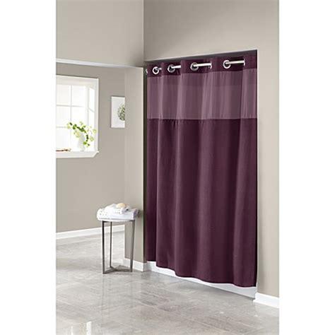 74 inch shower curtain hookless 174 waffle aubergine 71 inch w x 74 inch l fabric