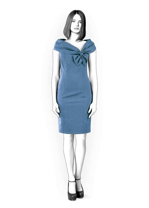 dress pattern with collar dress with wide collar sewing pattern 4287 made to