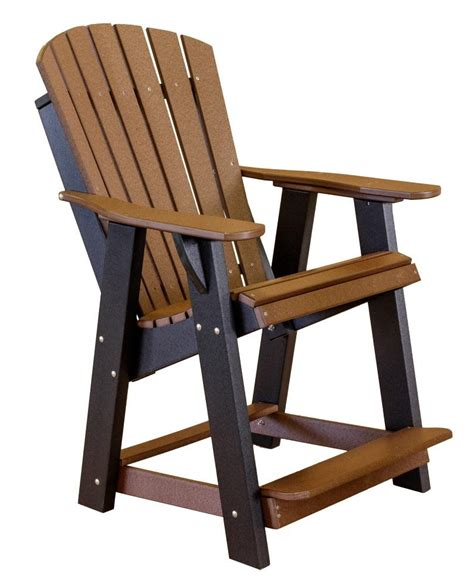 high adirondack outdoor patio chair  rocking chair