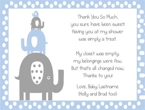 thank you cards baby shower templates 8 sle thank you notes sle templates